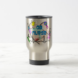OB Nurse Art Gifts Travel Mug