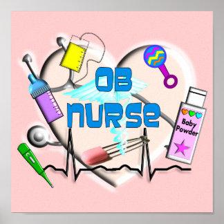 OB Nurse Canvas Art Print