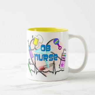 "OB Nurse Coffee Mug, ""Mellow Yellow"""