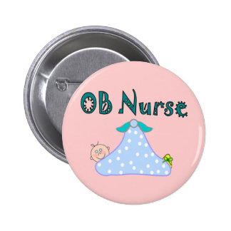 OB Nurse Gifts, Baby in Blanket--Adorable 2 Inch Round Button
