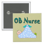 OB Nurse Gifts, Baby in Blanket--Adorable Button