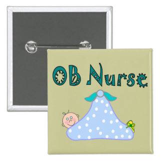 OB Nurse Gifts, Baby in Blanket--Adorable 2 Inch Square Button