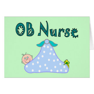 OB Nurse Gifts, Baby in Blanket--Adorable Card