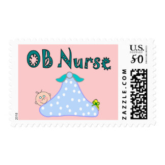 OB Nurse Gifts, Baby in Blanket--Adorable Postage