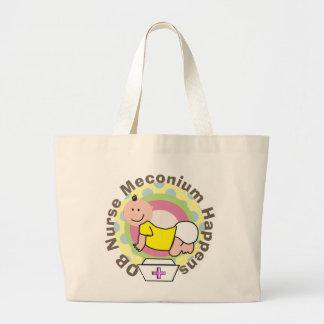 "OB Nurse Gifts ""Meconium Happens"" Jumbo Tote Bag"