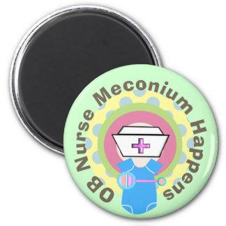 "OB Nurse Gifts ""Meconium Happens"" Magnet"