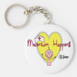 """OB Nurse """"Meconium Happens"""" Hilarious Key Chain"""