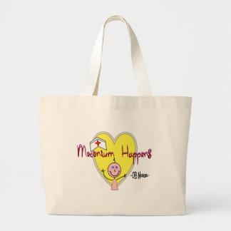 "OB Nurse ""Meconium Happens"" Hilarious Large Tote Bag"