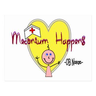 "OB Nurse ""Meconium Happens"" Hilarious Postcard"
