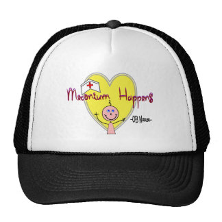 "OB Nurse ""Meconium Happens"" Hilarious Trucker Hats"