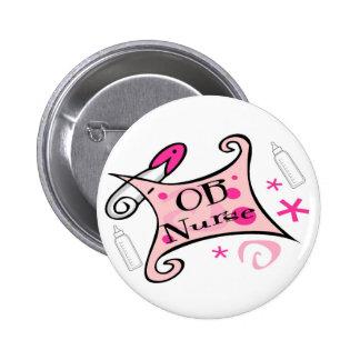 OB nurse (obstetrics) Nursing 2 Inch Round Button