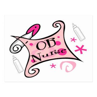 OB nurse (obstetrics) Nursing Postcard