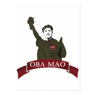 OBA MAO Obama + Estatua de la parodia de la Postal