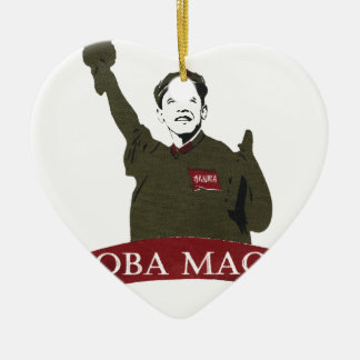 OBA MAO Obama + Statue of Liberty Parody Ceramic Ornament