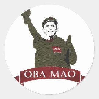 OBA MAO Obama + Statue of Liberty Parody Classic Round Sticker