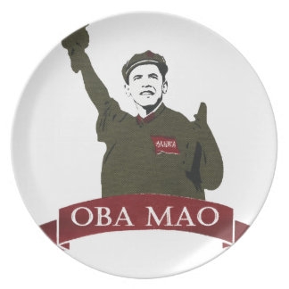 OBA MAO Obama + Statue of Liberty Parody Dinner Plate