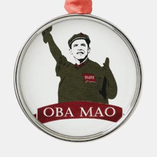 OBA MAO Obama + Statue of Liberty Parody Metal Ornament