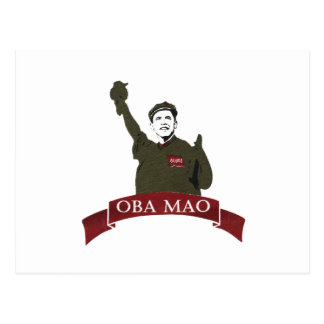 OBA MAO Obama + Statue of Liberty Parody Postcard