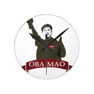 OBA MAO Obama + Statue of Liberty Parody Round Clock