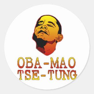 Oba Mao Tse Tung Classic Round Sticker