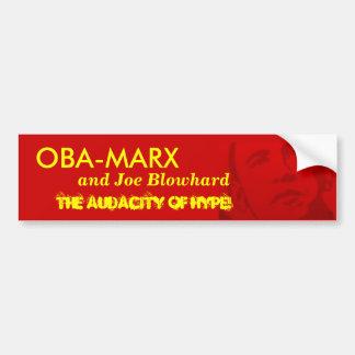 OBA-MARX and Joe Blowhard Car Bumper Sticker