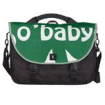 O'Baby Shamrock Irish Baby Laptop Messenger Bag