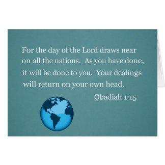 Obadiah 1 15 greeting cards