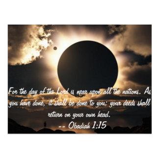 Obadiah 1:15 Postcard