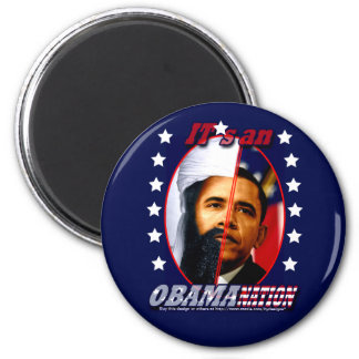 Obam-a-nation (sq) fridge magnet