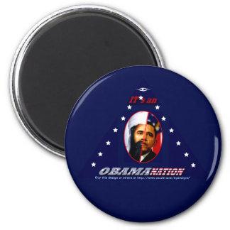 Obam-a-nation (tri) magnets
