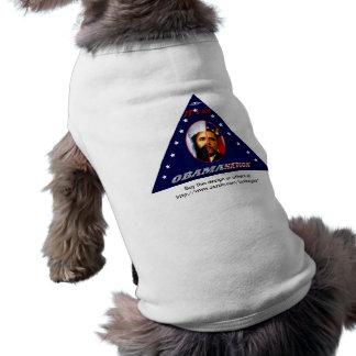 Obam-uno-nación (tri) camiseta de perro