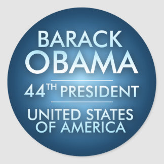 obama44th classic round sticker