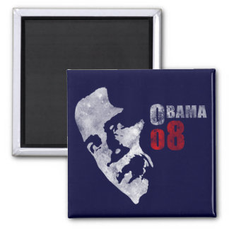 Obama 08 2 inch square magnet
