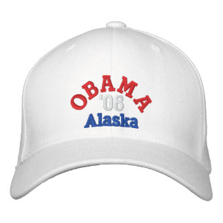 Obama '08 Alaska Hat Embroidered Baseball Cap