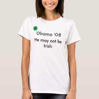 Obama '08, beso del irlandés playera