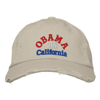 Obama '08 California Hat Embroidered Hat
