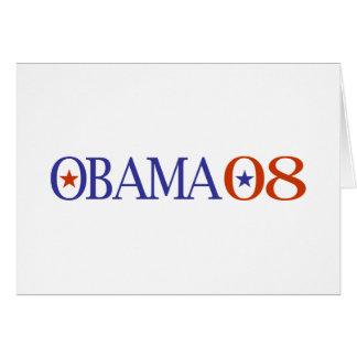 Obama 08 card