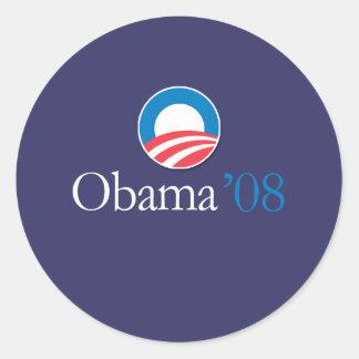 Obama '08 classic round sticker