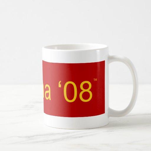 Obama 08 classic white coffee mug