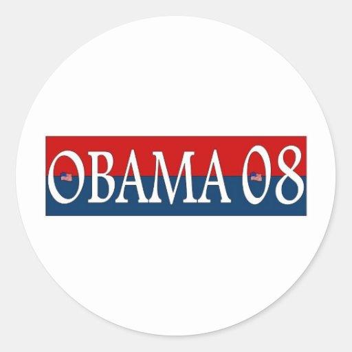 obama 08 etiquetas redondas