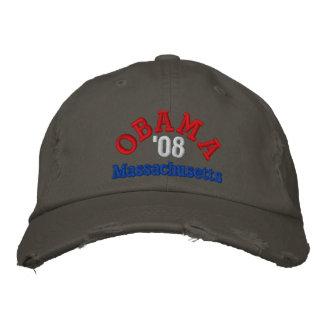 Obama '08 Massachusetts Hat Embroidered Hat