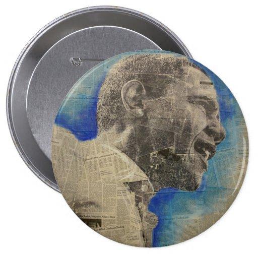 Obama '08 pin redondo de 4 pulgadas
