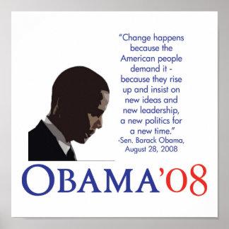 Obama 08 Poster
