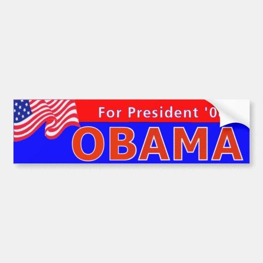 Obama 08 Red Car Bumper Sticker