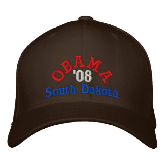 Obama '08 South Dakota Hat Embroidered Hats