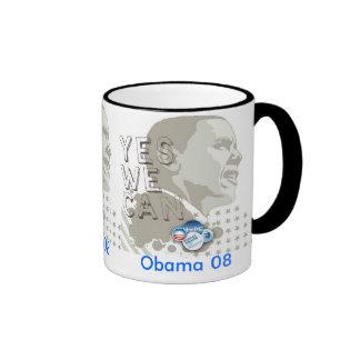 Obama 08 taza a dos colores