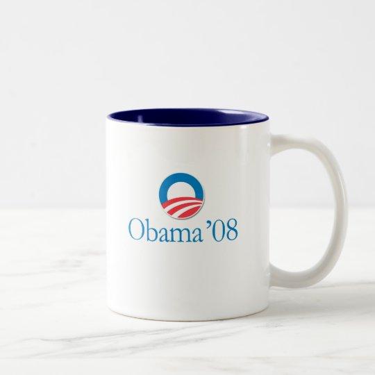 Obama '08 taza de café de dos colores