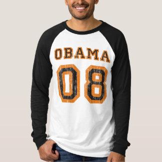 Obama 08 Team Vintage Raglan Tee Shirt