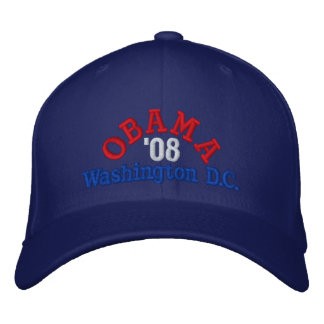 Obama '08 Washington D.C. Hat Gorra Bordada