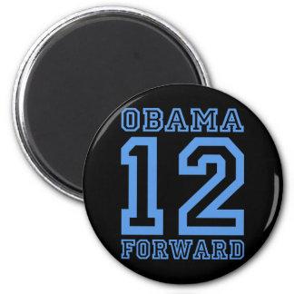 Obama 12 adelante imán redondo 5 cm